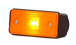 PAIRE DE FEUX A LEDS DE GABARIT + CATADIOPTRE ORANGE
