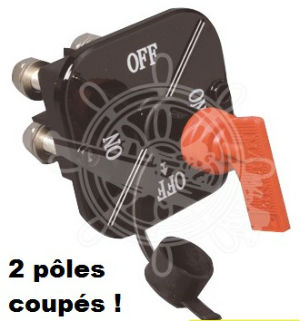 COUPE BATTERIE BIPOLAIRE A CLE