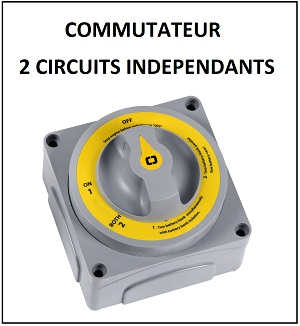 COMMUTATEUR DE BATTERIES DOUBLE CIRCUITS ECO