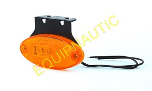 PAIRE DE FEUX A LEDS DE POSITION LATERAL + CATADIOPTRE ORANGE