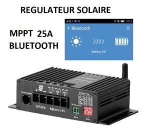 Régulateur de charge MPPT 350W BLUETOOTH
