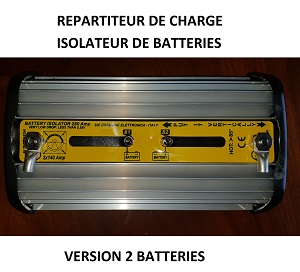 REPARTITEUR  de CHARGE ISOLATEUR 2 BATTERIES