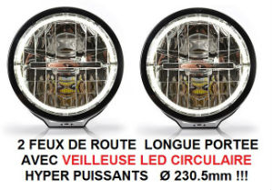 PAIRE DE FEUX DE ROUTE FULL LEDS  SURPUISSANTS + ANGEL EYES  !