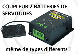 REPARTITEUR AUTOMATIQUE de CHARGE 2 BATTERIES SERVITUDES